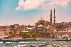 Yeni Cami Mosque in Istanboel, Turkije royalty-vrije stock fotografie