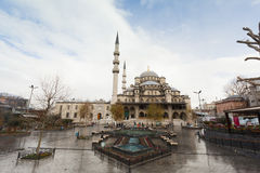 The Yeni Cami mosque in Istanbul, Turkey Stock Photography