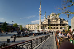 Yeni Cami, New Mosque, in Istanbul. Royalty Free Stock Photo
