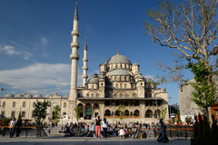 Yeni Cami, New Mosque, in Istanbul. Royalty Free Stock Photography