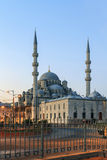 Yeni Cami ( New Mosque ) in the morning, Istanbul, Turkey. Royalty Free Stock Image
