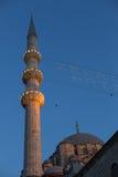 Yeni Cami przy półmrokiem, Istanbuł, Turcja zdjęcie stock