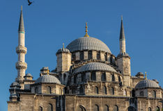 Yeni Camii (New Mosque) - Istanbul. View of the dome of the New Mosque in Istanbul Royalty Free Stock Photography