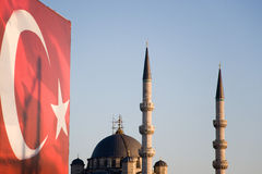 Yeni camil mosque Stock Photography