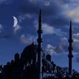 Yeni cammii mosque at night dusk Royalty Free Stock Image