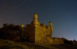 Yeni-grönkål fästning med natthimlen royaltyfri fotografi