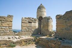 Yeni-Kale in Crimea. Yeni-Kale, ancient turkish fortress in Kerch, Crimea Stock Photo