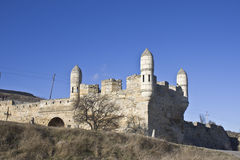 Yeni-Kale fortess. Ancient Turkish fortess in Kerch, Ukraine royalty free stock image