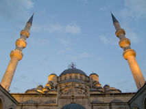 The Yeni  Mosque of Istanbul. Turkey Stock Photos