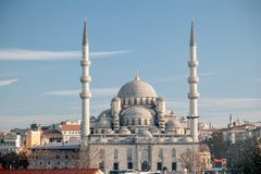 Yeni Mosque, la nouvelle mosquée ou la mosquée du sultan de Valide, Istanbul, Turquie Photographie stock