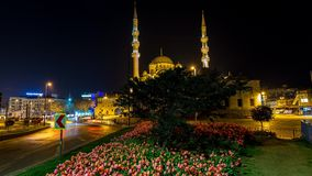 Yeni Mosque Time Lapse stock footage