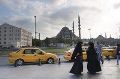 Yeni oder neue Moschee, Istanbul Stockfotografie