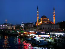 Yeni or Valide Sultan Mosque Stock Photography