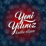 Yeni yiliniz kutlu olsun. Translation from Turkish: Happy New Year Stock Photography