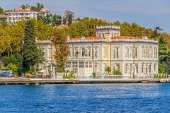 Yenikoy沿海的伊斯坦布尔 库存图片
