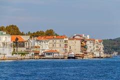 Yenikoy沿海的伊斯坦布尔 库存照片