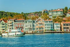 Yenikoy - Bosphorus shores, Istanbul Stock Photos