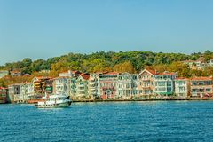 Yenikoy - Bosphorus shores, Istanbul Stock Photo