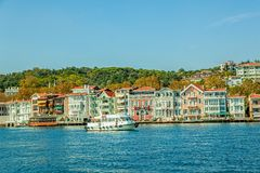 Yenikoy - Bosphorus shores, Istanbul Royalty Free Stock Photo