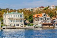 Yenikoy Istanbuł nabrzeżny Obrazy Stock