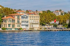 Yenikoy Istanbul coast Royalty Free Stock Photos