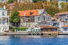 Yenikoy Istanbul coastal Royalty Free Stock Photos