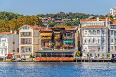Yenikoy Istanbul coastal Stock Photo