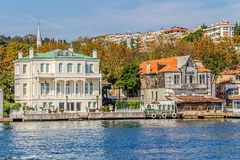 Yenikoy Istanbul Küsten Stockbilder