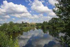 Yenisei River backwater, Krasnoyarsk, Russia Royalty Free Stock Images