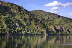 Yenisei river in Divnogorsk. Krasnoyarsk krai. Russia Stock Images