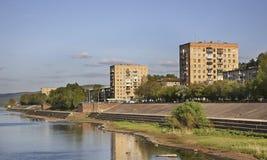 Yenisei river in Divnogorsk. Krasnoyarsk krai. Russia Royalty Free Stock Image