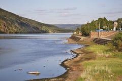 Yenisei river in Divnogorsk. Krasnoyarsk krai. Russia Royalty Free Stock Images