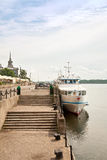 Yenisei river embankment Stock Photography