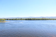 Yenisei River in Krasnoyarsk Royalty Free Stock Photo