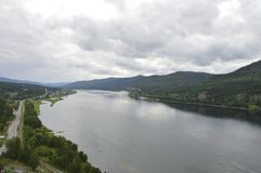 View of the Yenisei from a bird`s-eye view. royalty free stock images