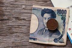 Yennota's en Yenmuntstukken royalty-vrije stock foto