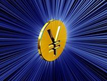 Yens d'or de symbole Photo stock