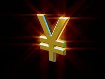 Yens de devise de symbole Images libres de droits
