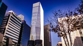 Yeo ui商业财政营业所大厦 库存图片