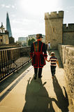 Yeoman warder and son Stock Photography
