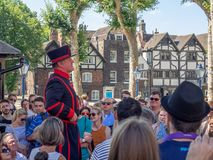 Free Yeomen Warder Inside The Tower Of London Stock Image - 126671271