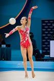 Yeon Jae Son of Korea. KYIV, UKRAINE - AUGUST 30, 2013: Yeon Jae Son of Korea performs during 32nd Rhythmic Gymnastics World Championship (Individual All-Around stock images