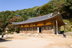 YEONGJU, КОРЕЯ - 15-ОЕ ОКТЯБРЯ 2014: Muryangsujeon Hall Стоковые Фотографии RF