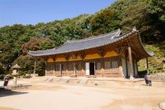 YEONGJU, COREIA - 15 DE OUTUBRO DE 2014: Muryangsujeon Salão Fotos de Stock Royalty Free