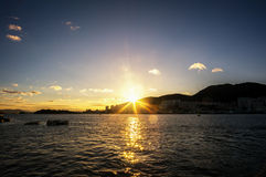 Yeosu sunset Stock Image