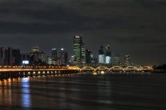 Yeouido and hangang bridge at night Royalty Free Stock Image