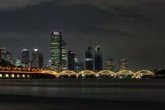 Yeouido and hangang bridge at night Stock Image