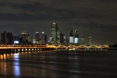Yeouido and hangang bridge at night Royalty Free Stock Photo