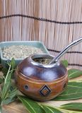 yerba сторновки ответной части чашки стоковое фото rf