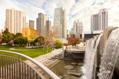 Free Yerba Buena Gardens And Downtown City Skyline Of San Francisco Royalty Free Stock Photo - 199033355